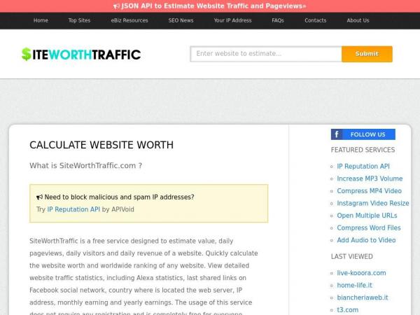 siteworthtraffic.com